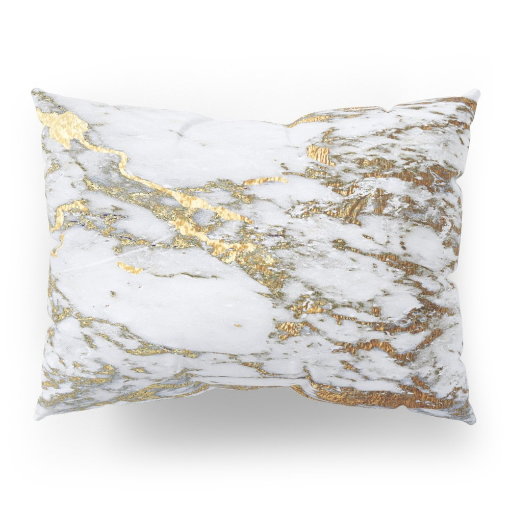 Society6 Gold Marble Pillow Sham Standard (20'' x 26'') Set of 2