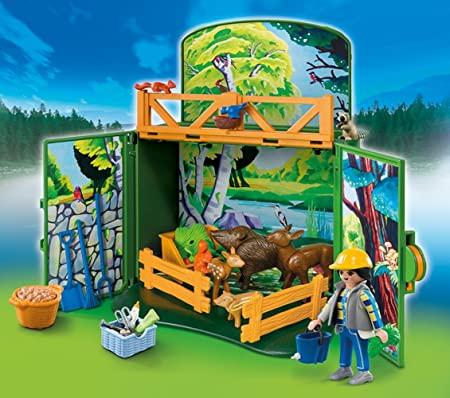 Amazon.com: Playmobil Secreto Bosque Animales Play Box: Toys ...