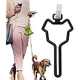 CROWATTS Dog Poop Bag Holder, Hands Free Adjustable Waste Bag Carrier Poop Bag Holder for Any Leash, Black