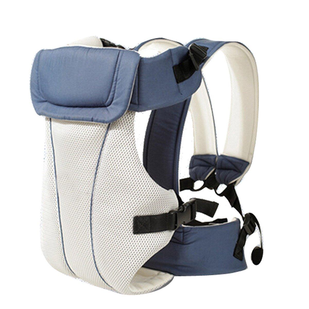 Dehang - Nonveau né - Porte - bébé dorsal / ventral – Coton mélangé – Bleu (Rouge)