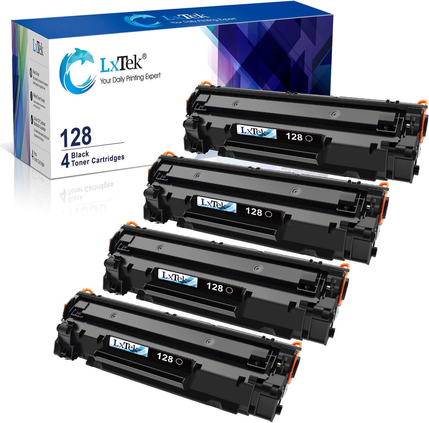AM-Ink 1-Pack Compatible 128 CRG-128 3500B001AA Toner Cartridge Replacement for Canon ImageCLASS D530 D550 MF4570dw MF4770n MF4880dw MF4890dw MF4450 MF4420n FaxPhone L190 L100 Printer Black