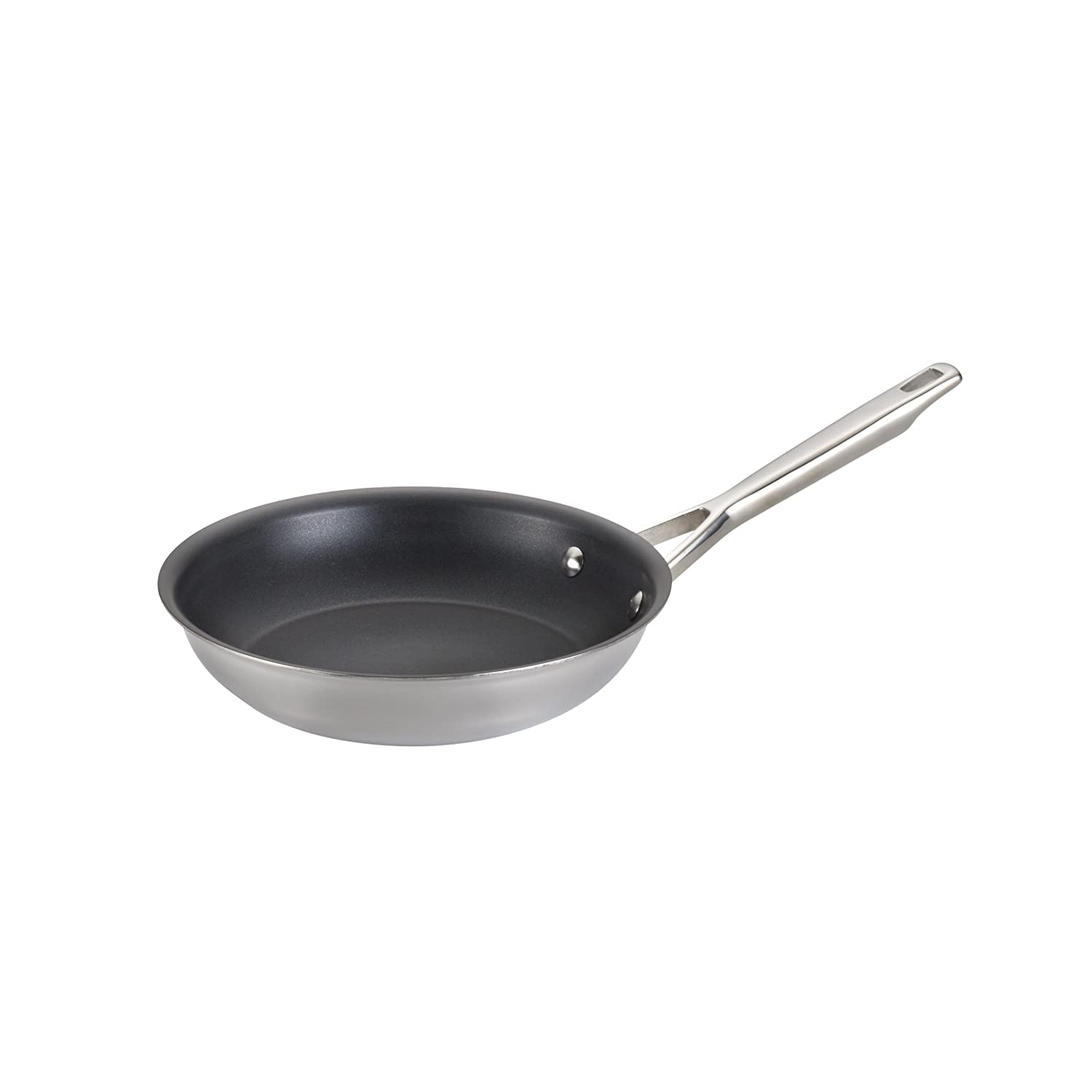 Anolon 31511 Triply Clad Stainless Steel Nonstick Frying Pan//Fry Pan//Stainless Steel Skillet 8.5 Inch Silver