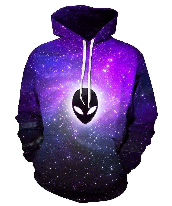 SUNY Sweatshirts Unisex Pullovers Space Galaxy 3D Print Hoodie Hip Hop Hooded
