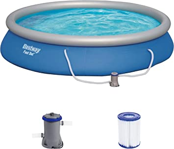 Bestway Fast Set 57313 - Piscina (Piscina con Anillo Hinchable ...