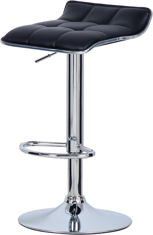 WOLTU BH28gr-2 2X Barhocker 2er Set Barstuhl Tresenhocker Grau verchromter Stahl aus hochwertigem Kunstleder Antirutschgummi,gut gepolsterte Sitzfl/äche