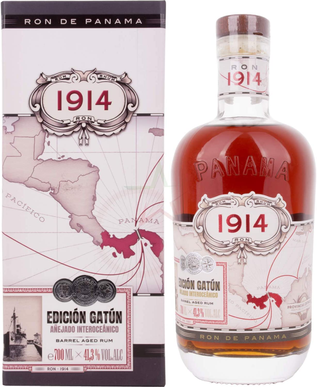 Ron 1914 Edición Gatún Barril Envejecido en Caja de Regalo - 700 ml