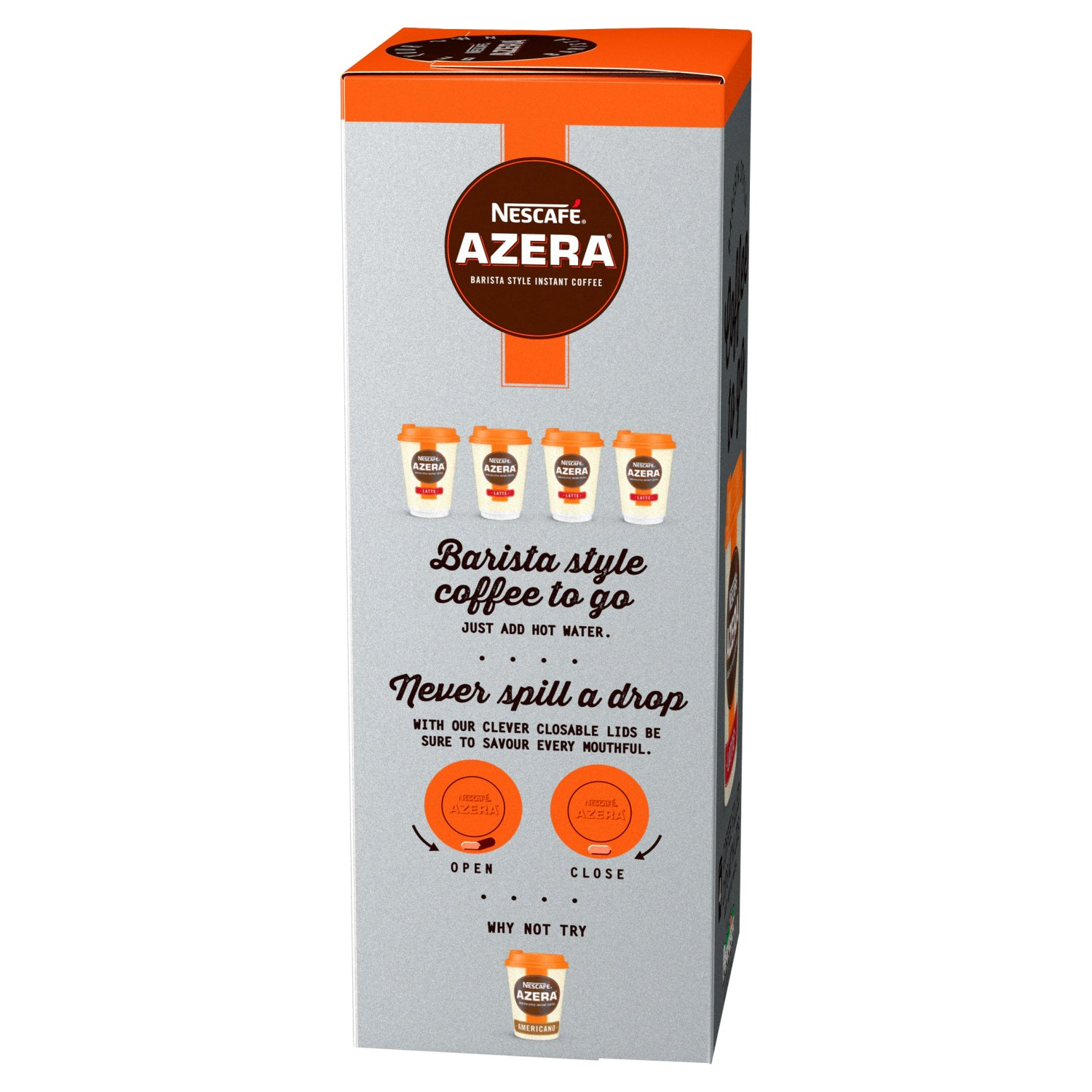 Nescafe Azera To Go Latte Instant Coffee 4 Cups Pack Of 3 Total 12 Cups