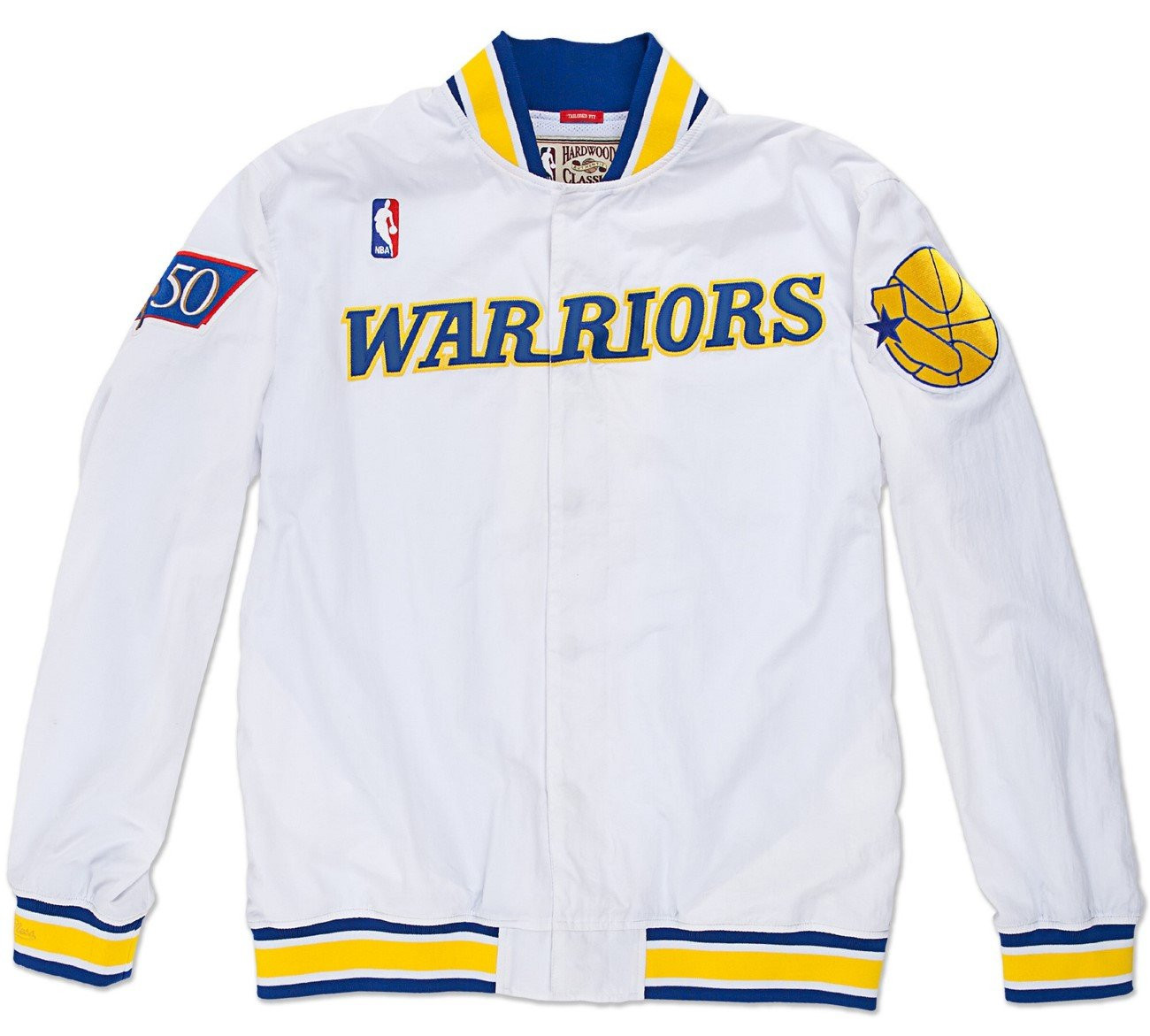 best service d5469 df272 Mitchell & Ness Golden State Warriors NBA Authentic 96-97 Warmup Premium  Jacket