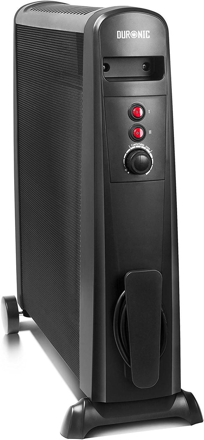 Duronic - Calentador de mica, 1500 W, color negro