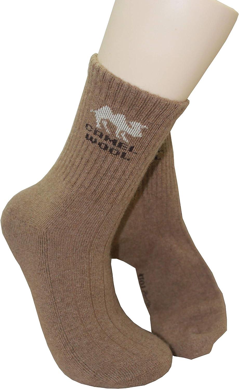 Mongolian Marron Camel Laine Hommes Chaussettes