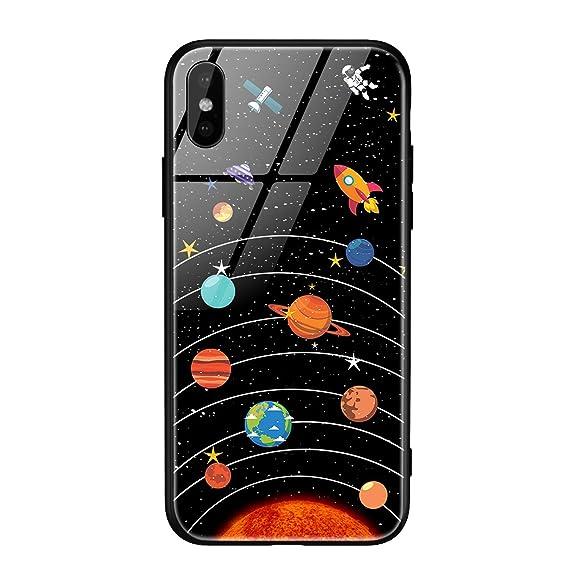 Amazon.com: Glass Phone Case iPhone X 7 8 10 6 s XS Star ...