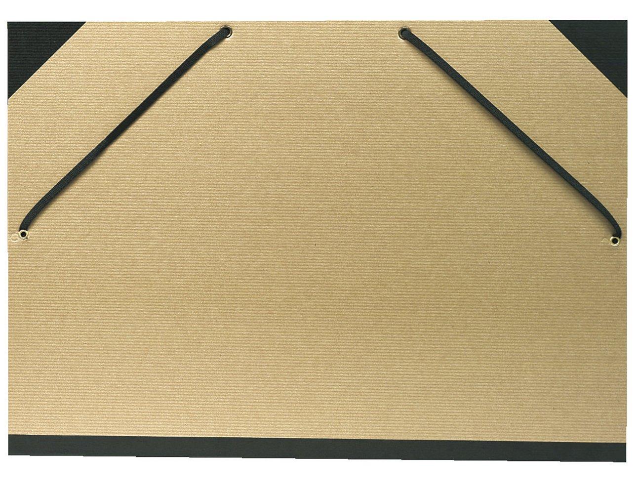 Carton a dessin kraft naturel avec elastiques 32x45cm - a3