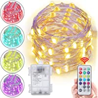 Abtong 5M/16.4ft Battery Powered Waterproof LED String Lights with Remote