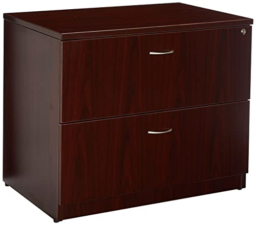 Lorell Lateral File, 35 by 22 by 29-1 2-Inch, Mahogany