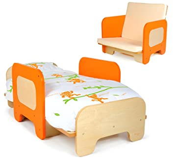 Pkolino Toddler Bed And Chair Orange Discontinued By Manufacturer