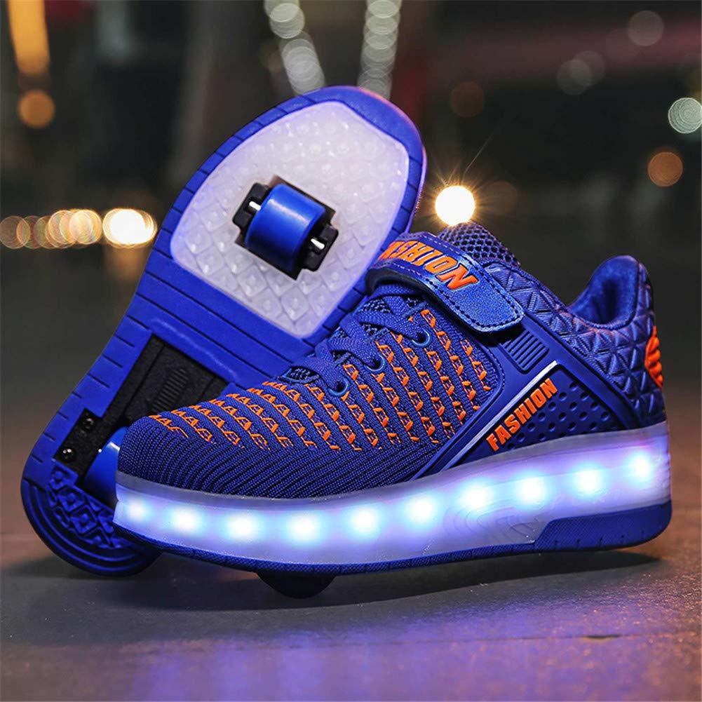 LED USB Rechargeable Nouveau Style Lumi/ères Clignotant Couleur Changeant Chaussures de Multisports Outdoor /à roulettes Sports Gymnastique Sneakers avec Rouleau Fille Gar/çon