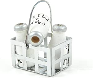 Touch of Nature Miniature Basket of Milk Bottles 1