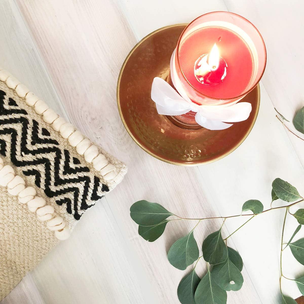 JuwelKerze Hei/ße Maronen Silber Ohrringe, Brenndauer : 45 /– 65 Stunden Kerze im Glas mit Schmuck Kleine orangene Duftkerze mit /Überraschung als Geschenk f/ür Sie