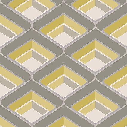 Geometric Grey Silver White Wallpaper Modern Glitter Embossed Bold Funky Rasch