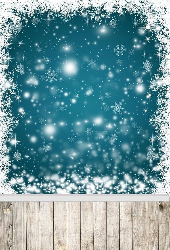 Leyiyi Fotohintergrund Für Graffiti Vintage Holzboden Frohe Weihnachten Happy New Year Glitzernde Punkte Schneeflocken Raum Inneneinrichtung Hochzeit Foto Hochformat Vinyl Studio Videorequisite
