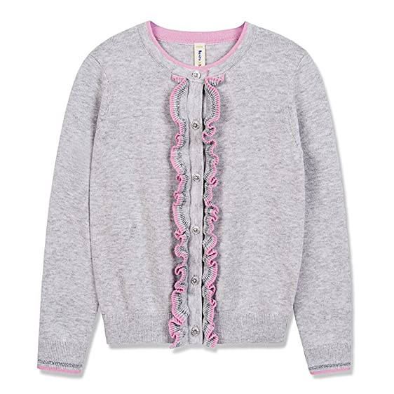 Amazon.com: Benito & Benita Girls' Sweater Crew Neck Cardigan Soft ...