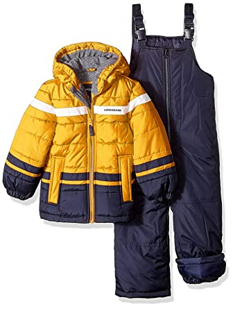 339d38aafb2b Amazon.com  London Fog Boys  2-Piece Snow Pant   Jacket Snowsuit ...
