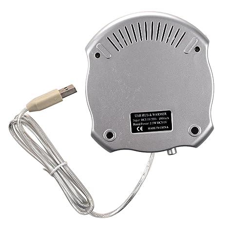 SODIAL(TM) USB Calefactor Calentador para Taza/Jarra + 4 Puerto Hub USB: Amazon.es: Electrónica
