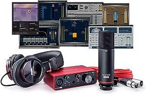 Focusrite Scarlett Solo Studio (3rd Gen) USB Audio Interface plus Waves Musicians 2 and iZotope Mobius Filter Recording Bundle