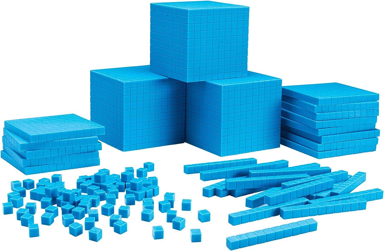 Desconocido Generic-Set para el Aula de Bloques de plástico de Base Diez de Learning Resources, Color LER0932