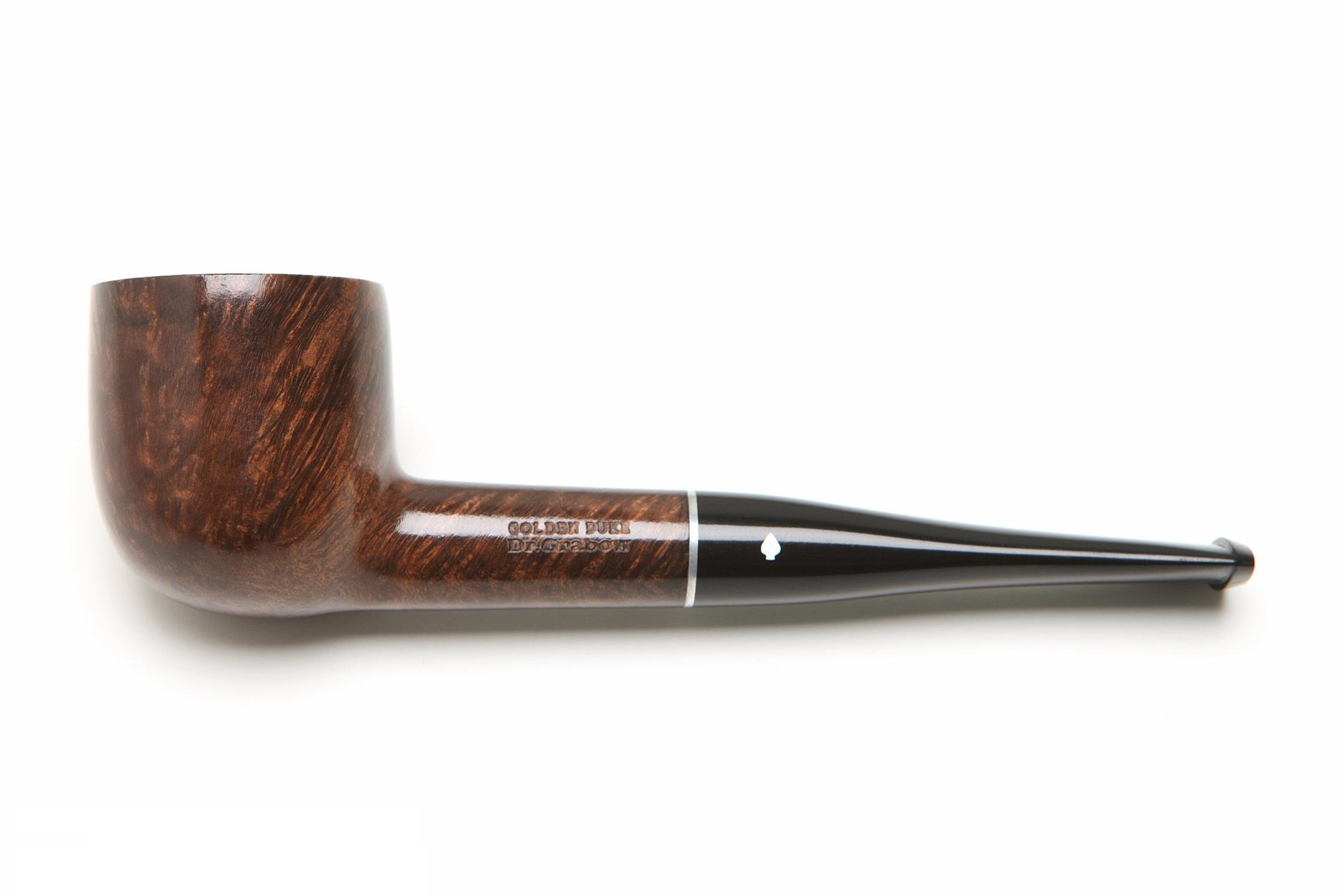 Vintage estate pipe dr grabow golden duke filtered pipe imported briar - Dr Grabow Golden Duke Smooth Tobacco Pipe