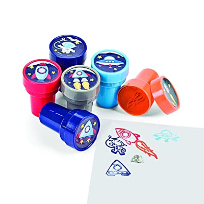Make-A-Spaceship Stampers, Teacher Resources & Stampers & Stamp Pads, 4 packs of 6 : Business Stamping Supplies : Office Products