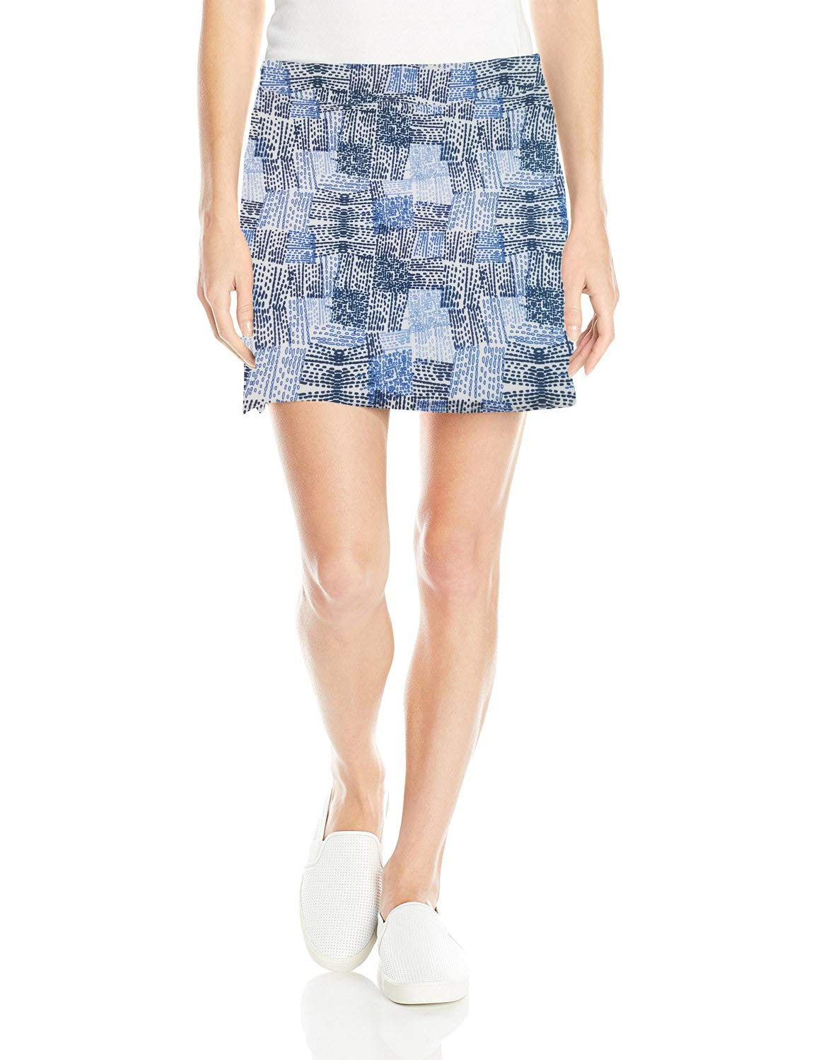 Colorado Clothing Women's Everyday Skort (Blue Patchwork, Large) by Colorado Clothing