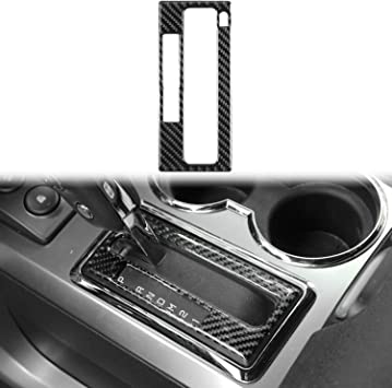 Voodonala for 2009-2014 Ford F150 ABS Carbon Fiber Cup Holder Cover Gear Trim 1 pc