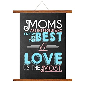 YaYa Cafe Mothers Day Greeting Cards Moms Love Mother Scroll Card For Mom Wall Hanging Decor