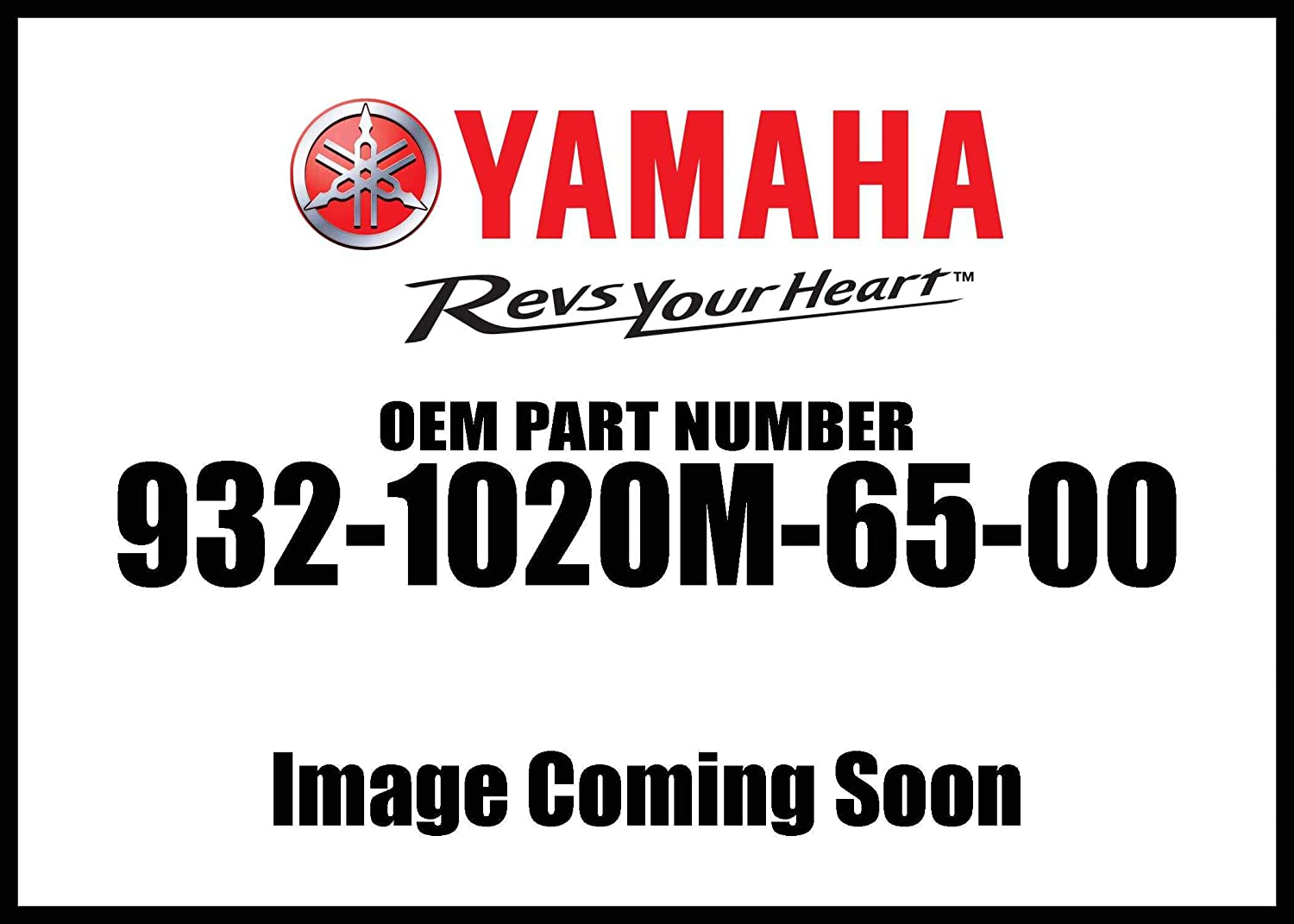 Yamaha 93210-20M65-00 O-Ring; 9321020M6500 Made by Yamaha