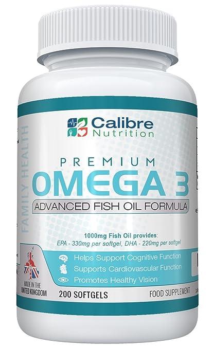 Aceite de pescado con Omega 3 Premium – De 1000mg a 2000mg por toma – Preparado de máxima potencia para complementar la salud familiar – ...