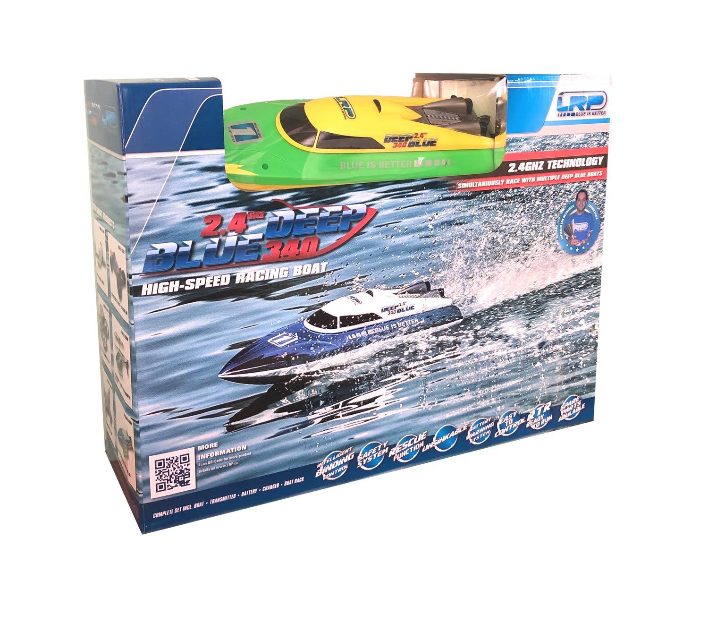 Outletdelocio. Lancha radiocontrol Lrp Deep Blue 340 Racing. 2,4Ghz. Insumergible. Antivuelco. Bateria y Cargador Incluido
