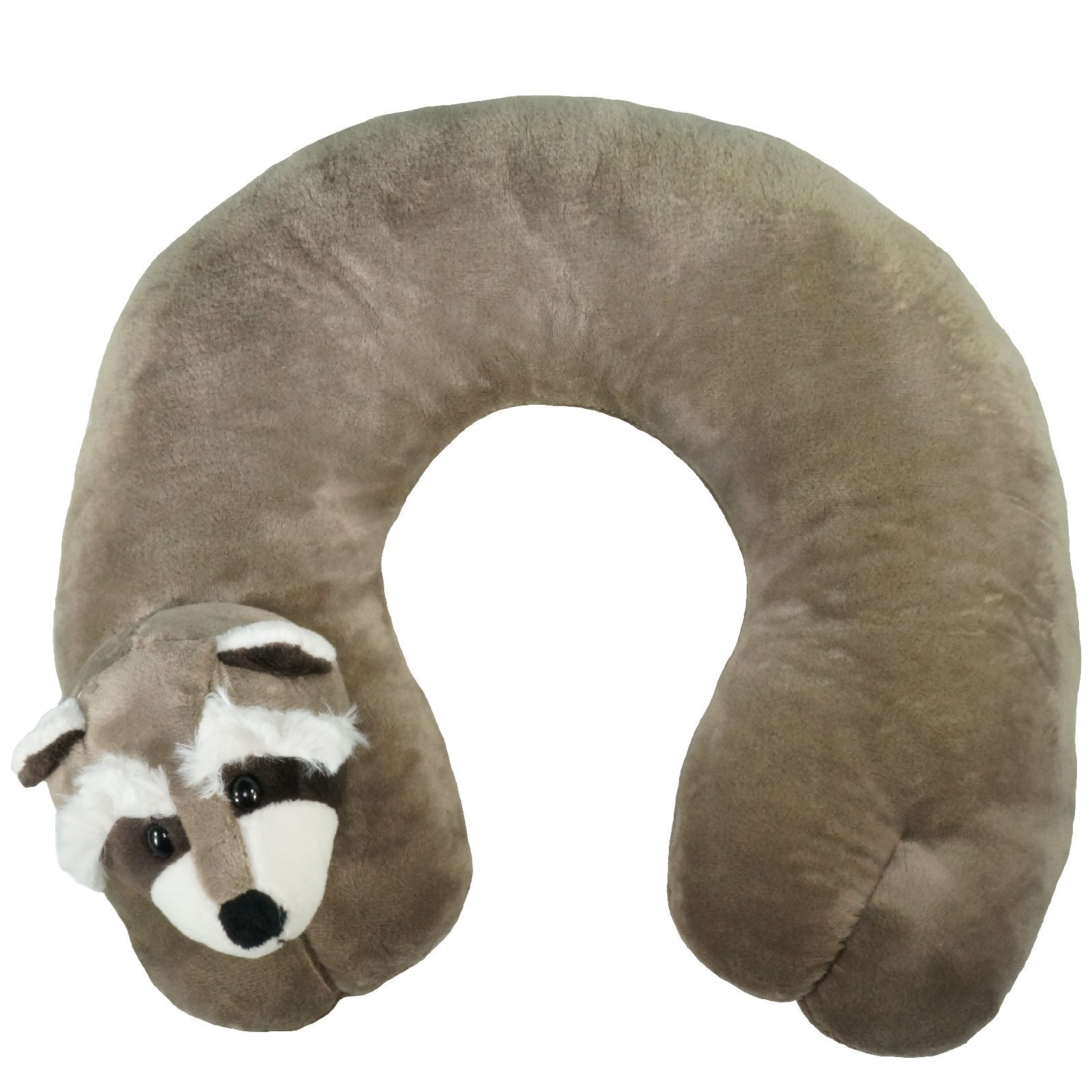 ComfoLUX Animal Neck Travel Pillow for Kids and Adults - Raccoon