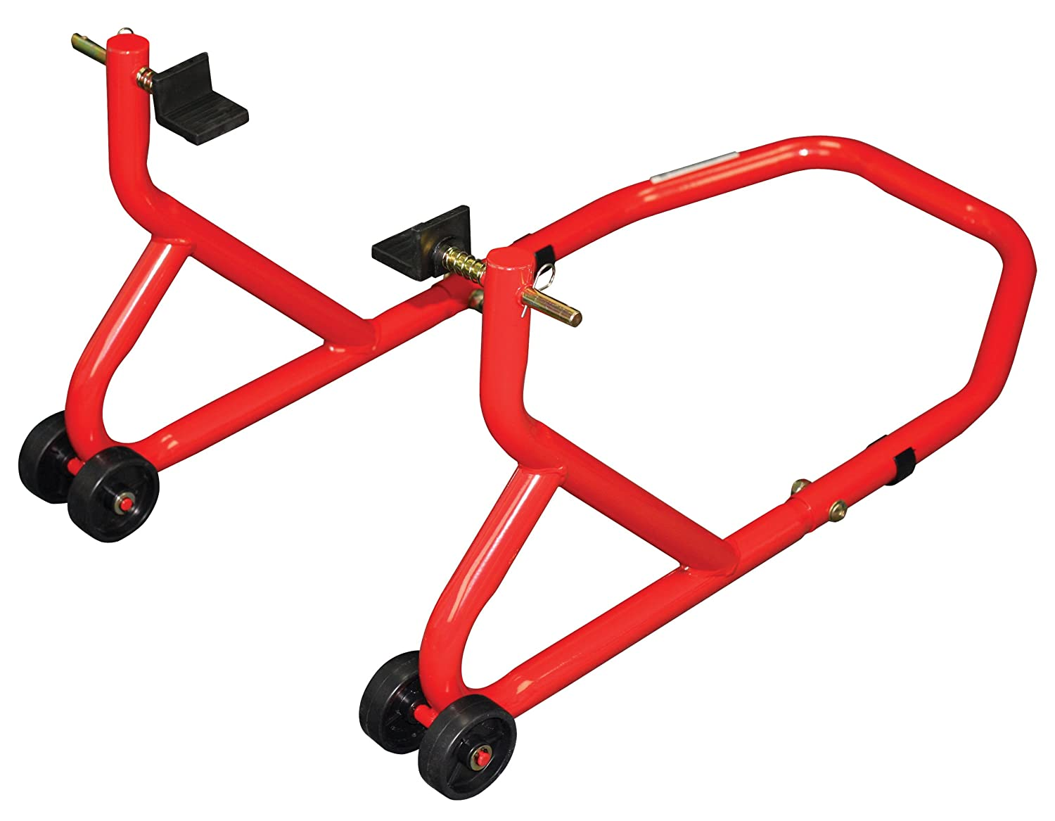 BIKE IT BikeTek Rear Motorcycle Paddock Stand Series 3 Red Heavy Duty