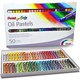 Giz Pastel Oleoso Pentel Para Desenhar Com 50 Cores, Pentel, 50 Cores