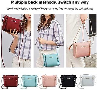 Zippem Women Fashion Solid Zip Backpack Shoulder Bag Purse Wallet Shoulder Bags
