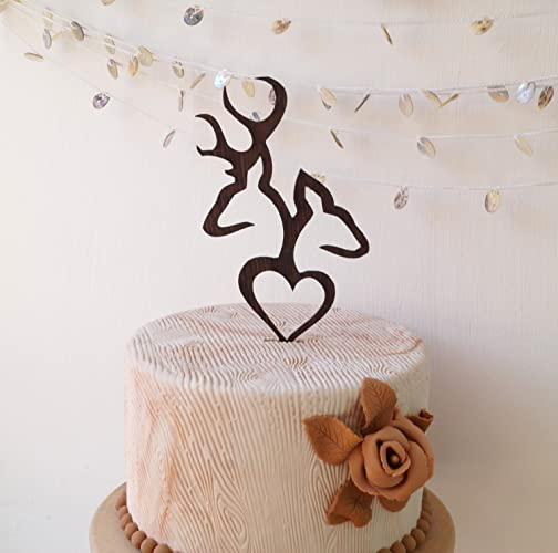 Amazon deer cake topper wedding cake topper buck and doe deer cake topper wedding cake topper buck and doe wedding cake topper wooden junglespirit Gallery