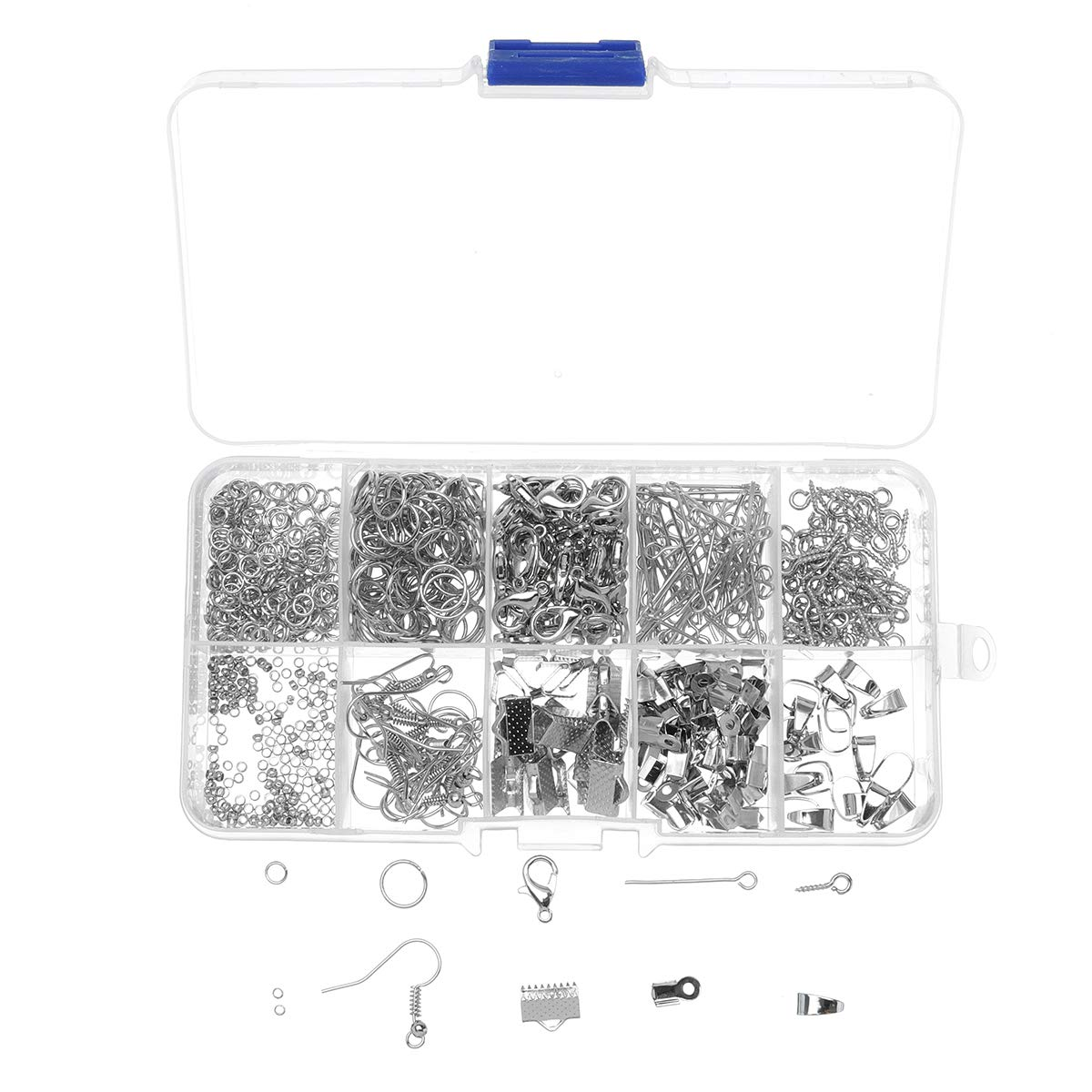 TuToy Diy Jewelry Making Kit Starter Earring Bracelet Necklace Findings Craft Pp Box