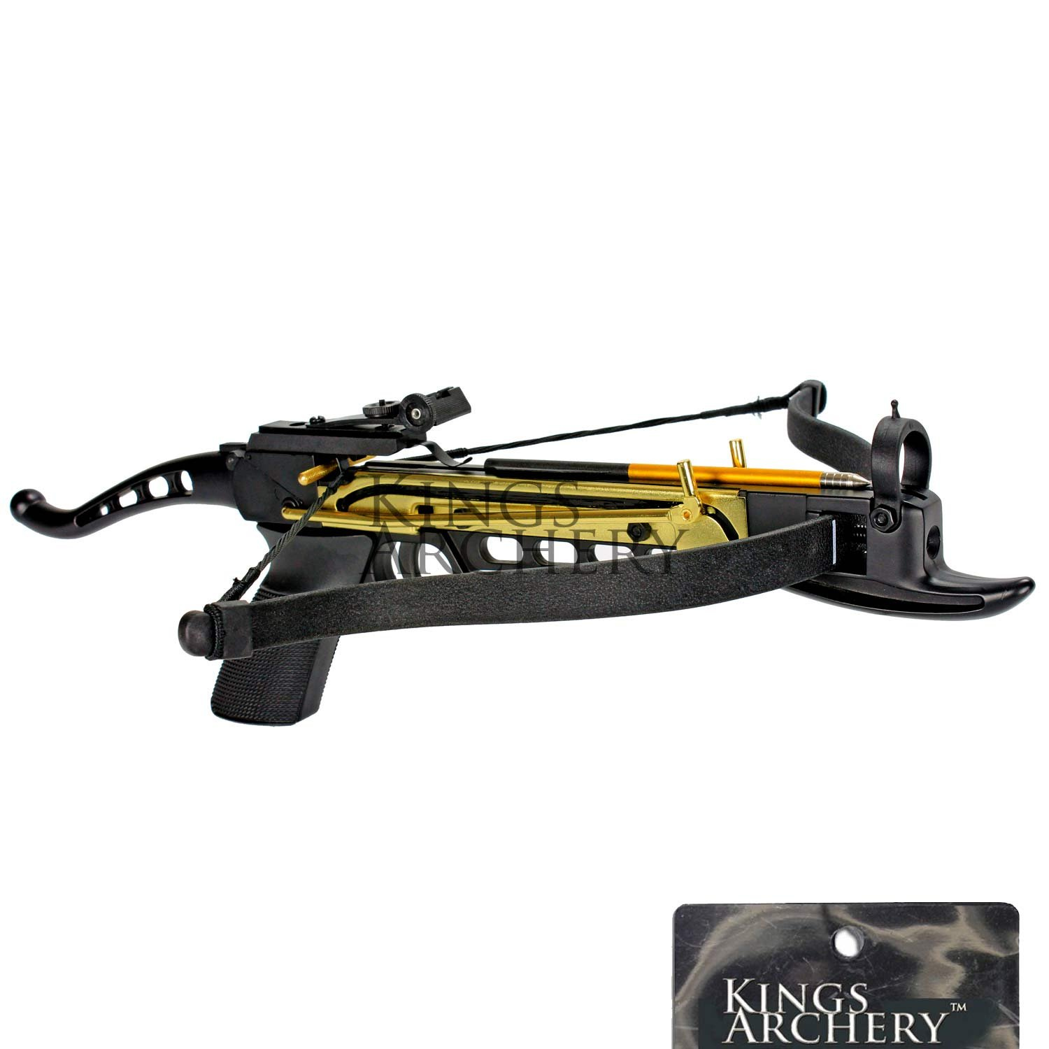 Crossbow Self-Cocking 80 LBS by KingsArchery® with Hunting Scope, 3 Aluminium Arrow Bolts, and Bonus 120-pack of Colored PVC Arrow Bolts + KingsArchery® Warranty by KingsArchery (Image #6)