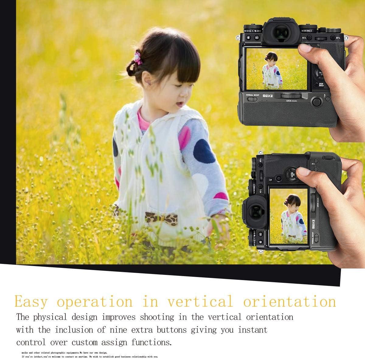 Meike MK-XT3 Pro Vertical Shooting Power Pack Batteriegriff f/ür Fujifilm X-T3 mit 2,4 GHz Funkfernbedienung