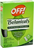 Off! Botanicals Plant-based Repellant Towelettes (Pack of Six)