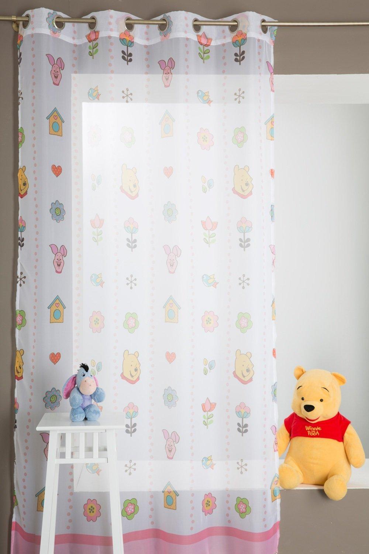 Amazon.de: Gardine Für Kinderzimmer Winnie The Pooh 140 X 280 Rosa