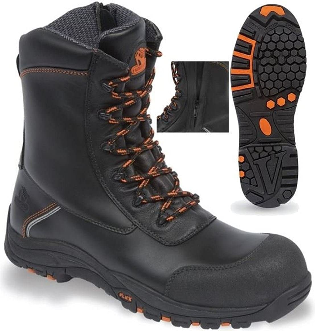 9276cf41284 V-Tech Defiant Black High Leg Zip Sided Safety Boot (3)