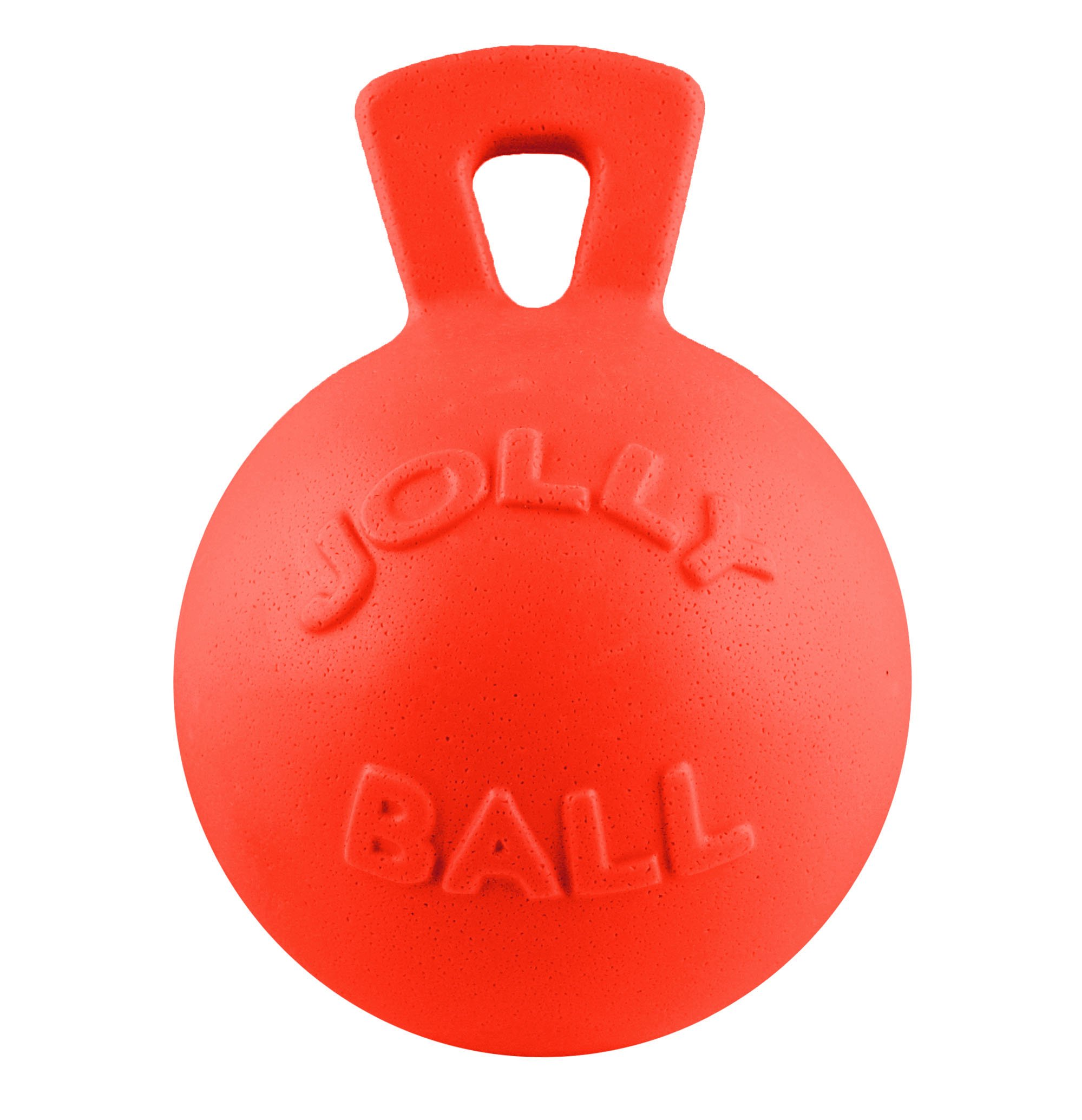 Jolly Pets Tug-n-Toss - Heavy Duty Chew Ball w/ Handle (Orange, 8'')