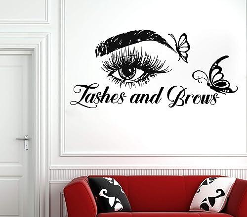 Eyelashes decal,Eyelashes Eye Decal,Eyelashes Eye Sticker,Girls Eyes,Eyebrows Decal,Brow Bar decal,Beauty Salon Decal,Make Up Decal rta1998